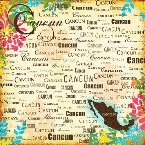 Paradise Collection Cancun 12 x 12 Scrapbook Paper by Scrapbook Customs