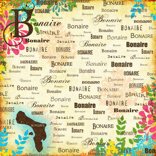 Paradise Collection Bonaire 12 x 12 Scrapbook Paper by Scrapbook Customs