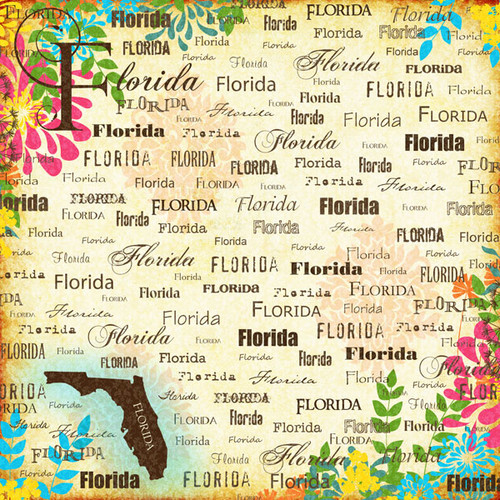 Paradise Collection Florida 12 x 12 Scrapbook Paper by Scrapbook Customs