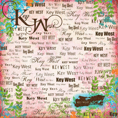 Paradise Collection Key West 12 x 12 Scrapbook Paper by Scrapbook Customs