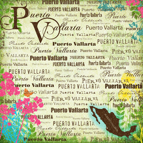 Paradise Collection Puerto Vallarta 12 x 12 Scrapbook Paper by Scrapbook Customs