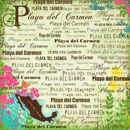 Paradise Collection Playa Del Carmen 12 x 12 Scrapbook Paper by Scrapbook Customs