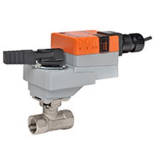"Belimo Valve Assembly - 2-way CCV, SS Trim, 1/2"", Cv 7.4"" with Non-Spring Return, 45 in-lb, On/Off/Floating, 120V"