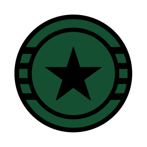 Green Valor Knob Sticker