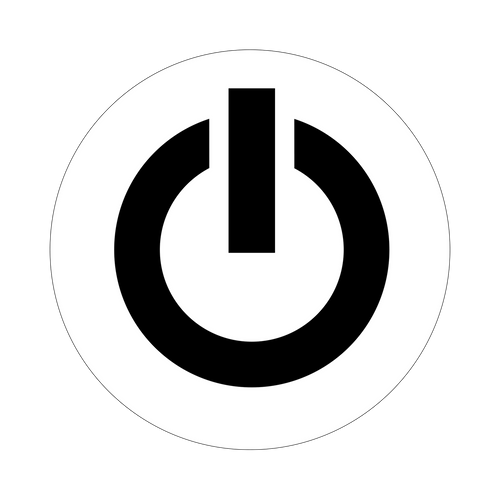 Standby Knob Sticker