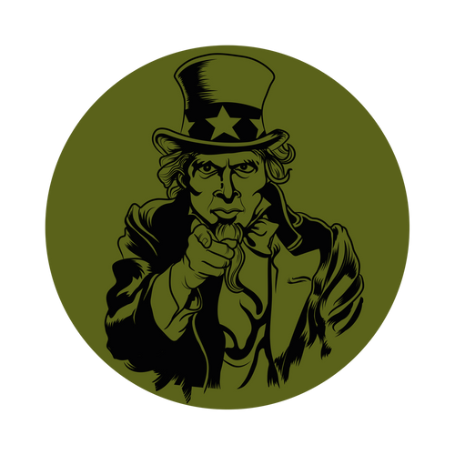 Uncle Sam Knob Sticker