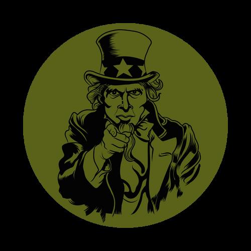 Uncle Sam Knob Sticker