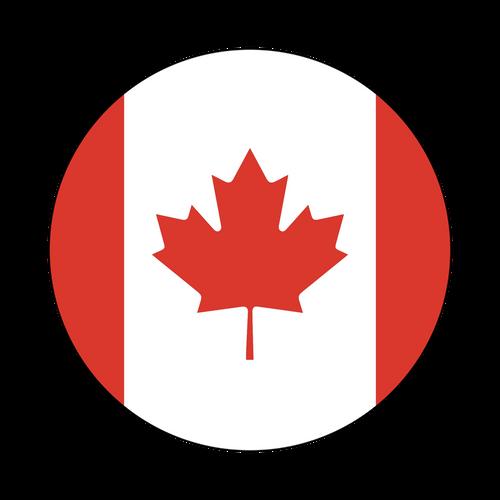 Canada Flag Knob Sticker