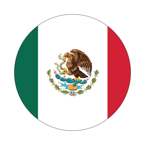 Mexico Flag Knob Sticker