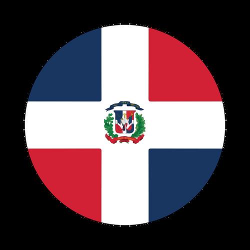 Dominican Republic Flag Knob Sticker