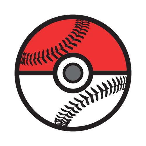 Poke Baseball Knob Sticker
