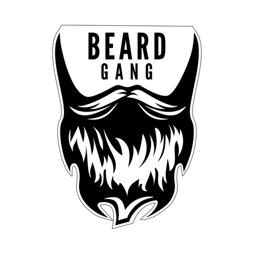 Beard Gang Knob Sticker