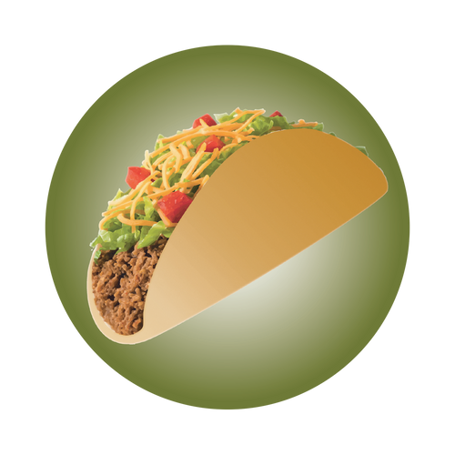 Taco Knob Sticker