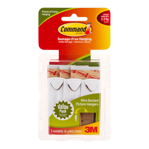 3M Command Hanger 14043 Picture White Wire Backed Kit Value Pack