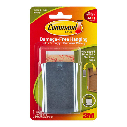 3M Command Hanger 17048 Metal Sticky Nail Wire Back