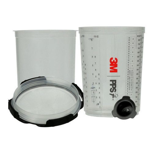 3M 26024 PPS SERIES 2.0 SPRAY CUP SYSTEM LARGE 850ML 200 MIC