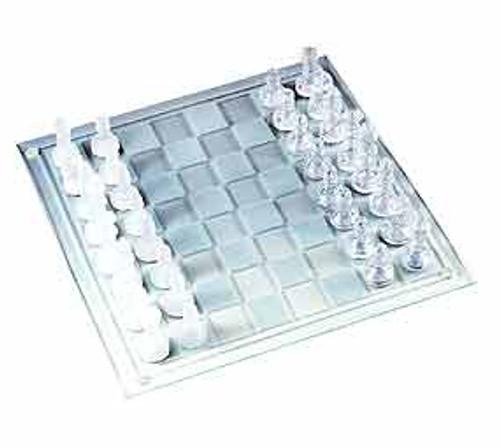 "14"" Glass - Chess Set"