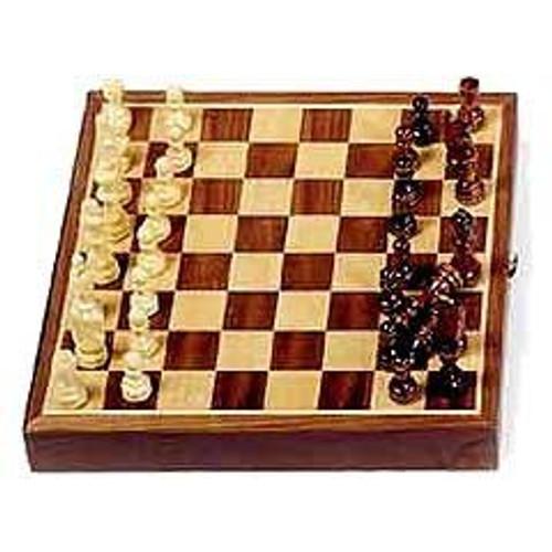 "11"" Magnetic Inlaid Walnut - Chess Set"