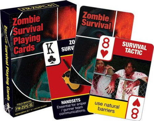 Zombie Survival Tips - Playing Card Deck