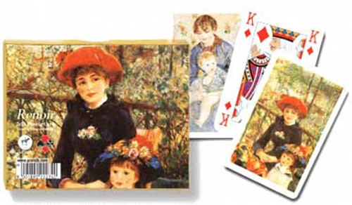 Renoir Red Hat - Double Deck Playing Cards