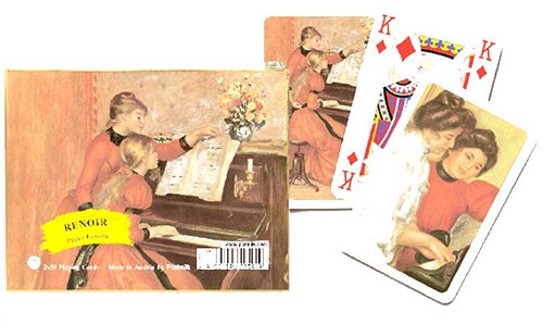 Renoir: Piano Lesson - Double Deck Playing Cards