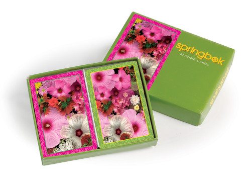 Blossom Bouquet - Double Deck Jumbo Index Playing Cards by Springbok