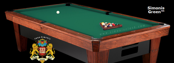 Simonis 860 Billiard Cloth, 8 foot Oversize cut with bed and rails