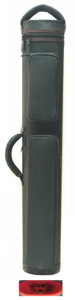 JB Dynamite Rugged 3x6 black with red stitching, red interior, 2 oversize pockets, top handle