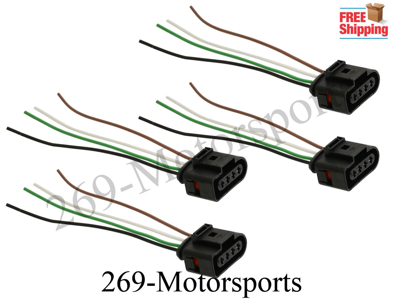 4 ignition coil connector repair kit harness wiring fits vw audi rh 269motorsports com Car Wiring Harness Ford Wiring Harness Connectors