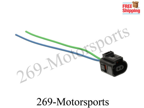 2 Pin Fog Light Lamp Pigtail Plug Wiring Connector For VW