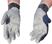 Atlas Gray Nylon Nitrile Gloves