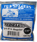 "1/4"" Regular Spacers 100/BAG"