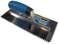"1/4"" V Notch Stainless Steel Trowel"