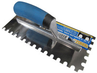 "3/8"" U Notch Stainless Steel Trowel"