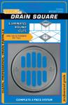Nickel Shower Drain Frame - 3 Piece Kit