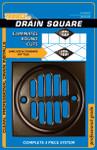 Bronze Shower Drain Frame - 3 Piece Kit