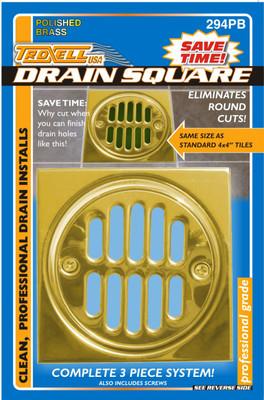 Brass Shower Drain Frame - 3 Piece Kit