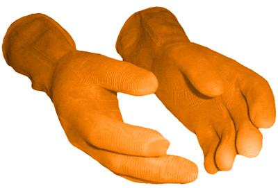 Heavy Duty Rubber Gloves - Orange