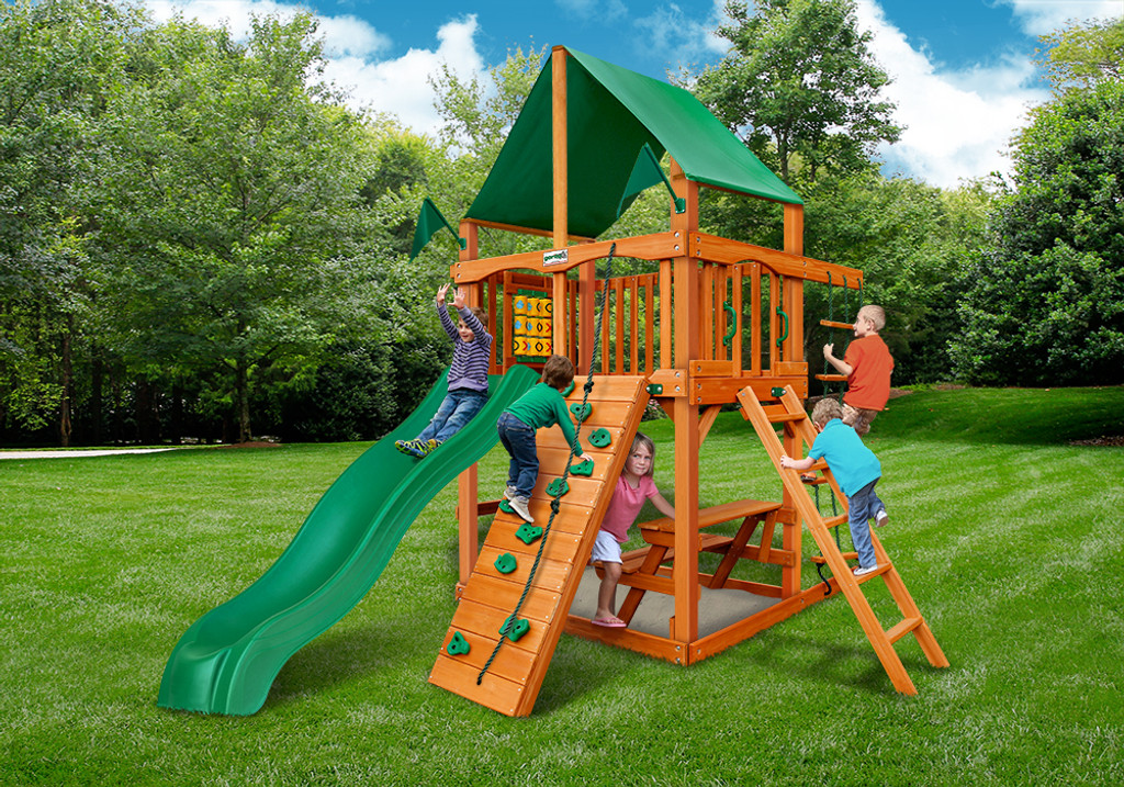 Chateau Tower Swing Sets W Timber Shield Accessories