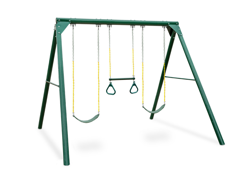 Studio shot of Roundabout Swing Set from Gorilla Playsets.
