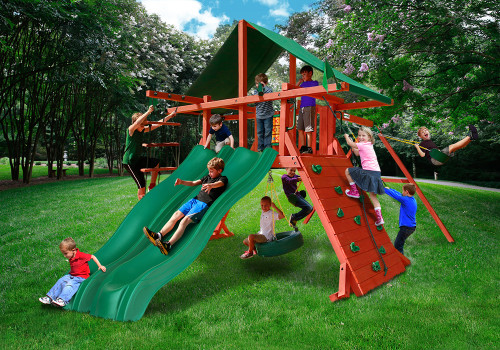 Outdoor  shot of Sun Valley Extreme Playset from Gorilla Playsets