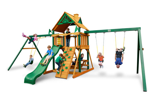 Studio shot of Chateau Duo Space Saver Playset from Gorilla Playsets