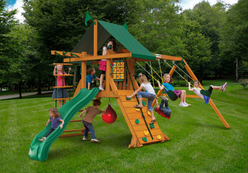 Outdoor shot of High Point Playset from Gorilla Playsets
