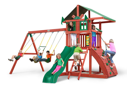 Studio shot of Highcrest Playset from Gorilla Playsets