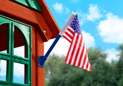 Alternate outdoor view of American Flag by Gorilla Playsets.