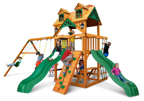 Studio shot of Woodmont Playset from Gorilla Playsets