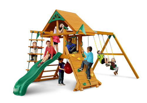 Studio shot of High Point Deluxe Playset from Gorilla Playsets