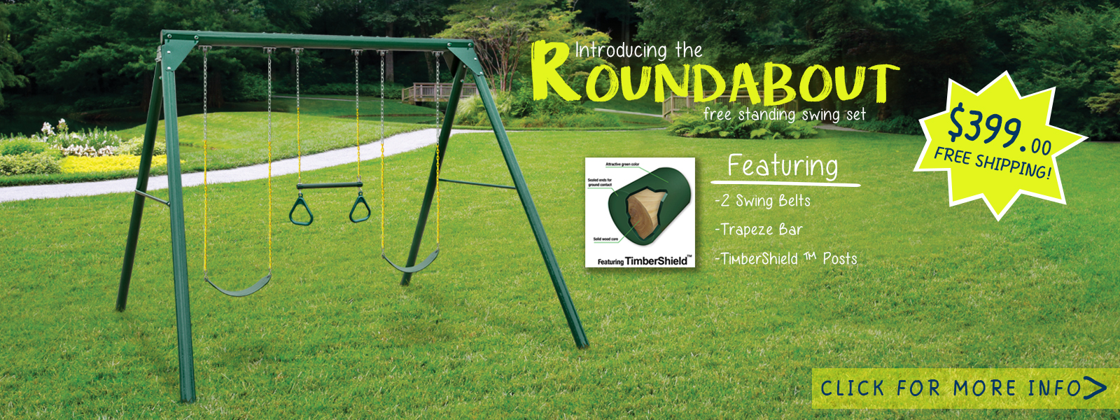 Click here to check out our Roundabout Swing Set!