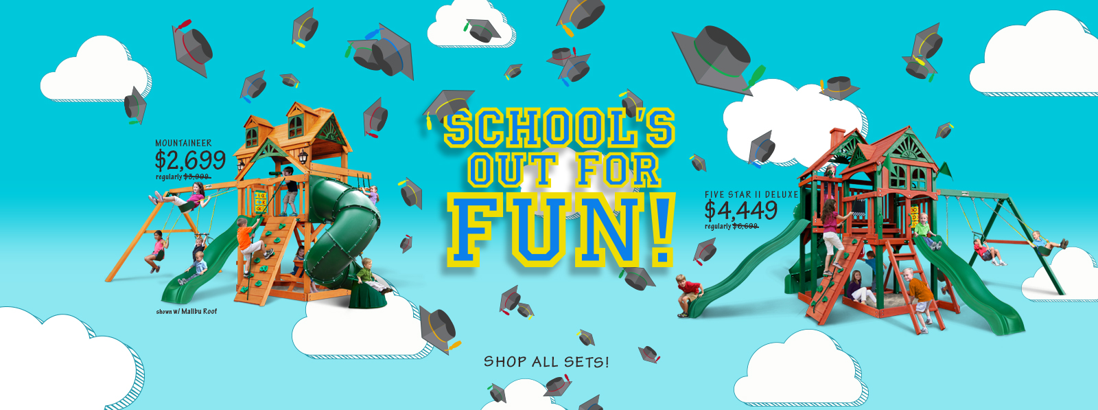 School's Out for Fun! Shop all Gorilla Sets Now!