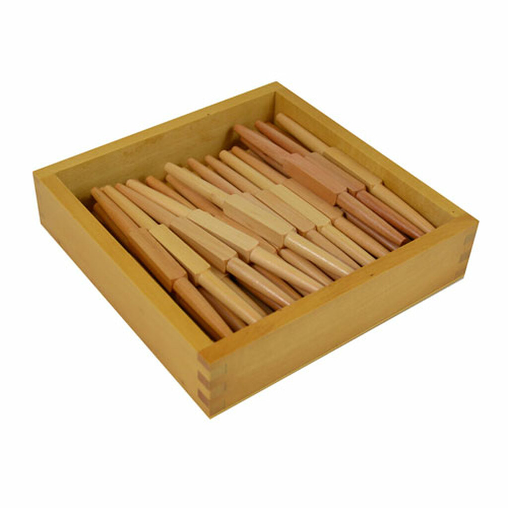 Wooden Spindles, 45 with box